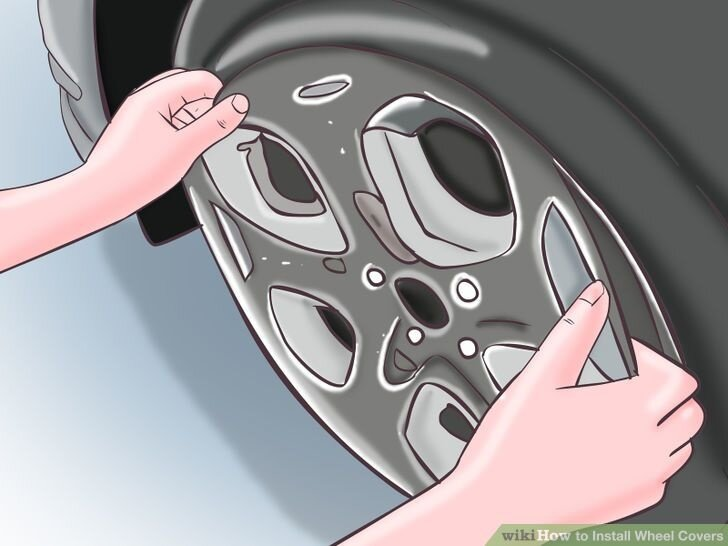 Image titled Install a Wheel Cover Step 4