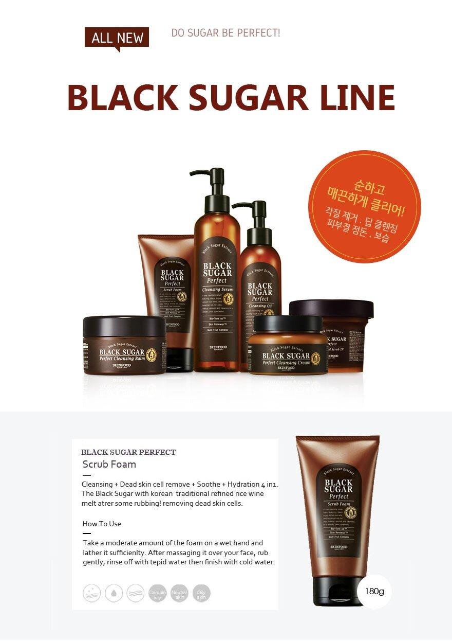 Black Sugar Perfect Scrub Foam by Skinfood #9