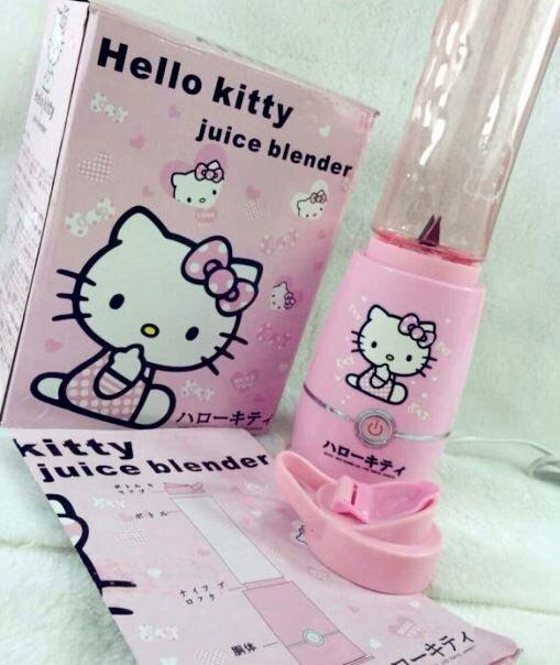 Kitty In A Blender ~ Hello kitty shake n take smoothie blender bottles set
