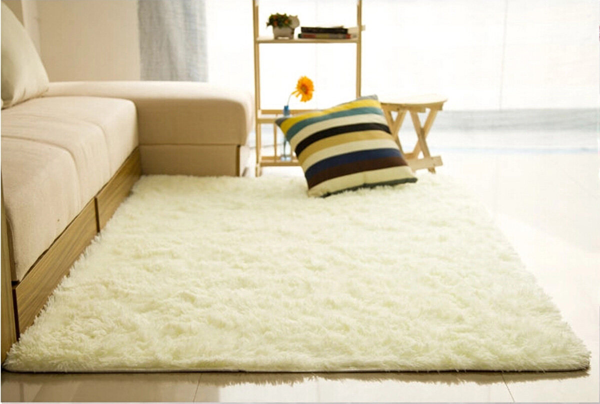 Shaggy Anti Skid Carpets Rugs Floor Mat Cover 80x120cm