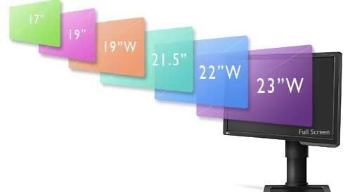 BenQ XL2411Z LED Gaming Monitor. Screen sizes