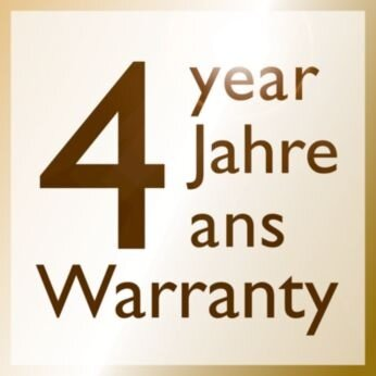 *2- year warranty plus 2 years, upon online registeration