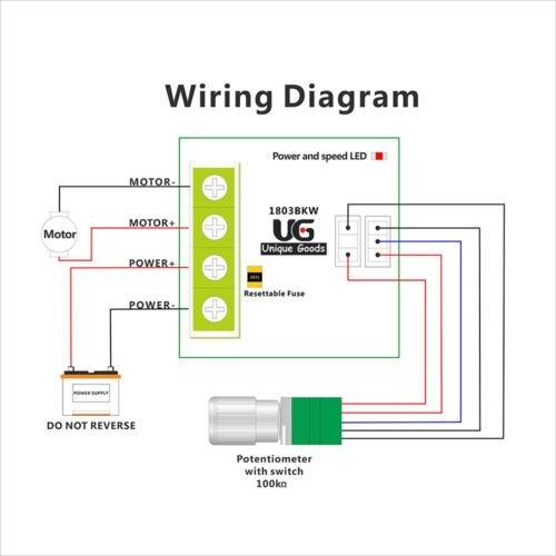 1 8V 5V 6V 12V 24V 2A DC Motor Speed Controller Switch Variable Speed  Regulator