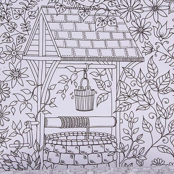 Hang Qiao An Inky Treasure Hunt Coloring Book Secret Garden BlackampWhite