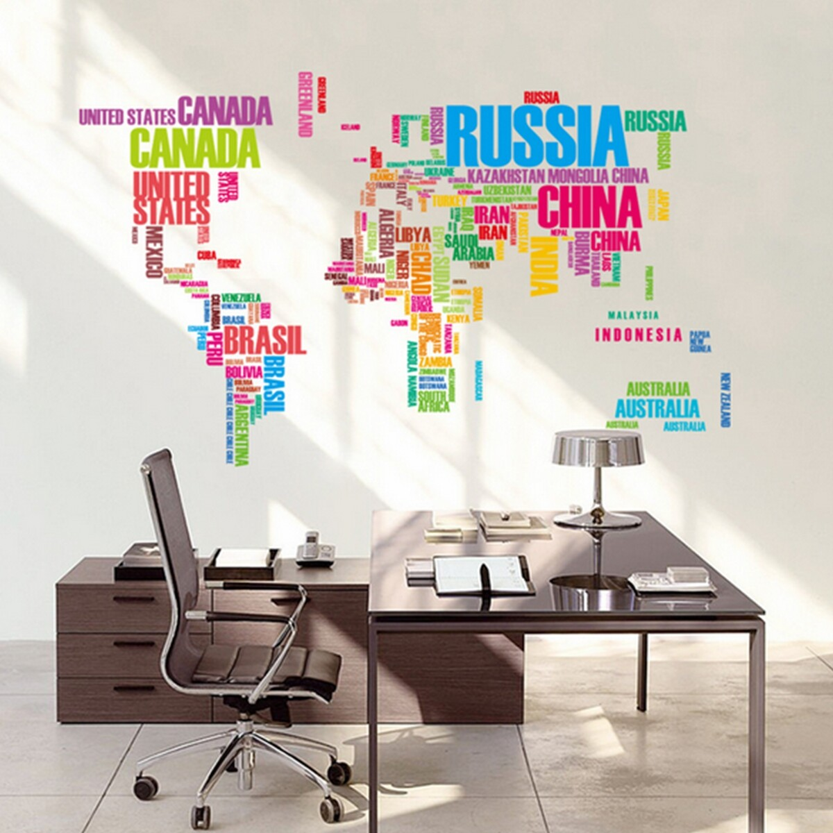 World map letter quote removable dec end 8162018 815 pm product details of world map letter quote removable decal art mural home decor vinyl wall stickers gumiabroncs Image collections