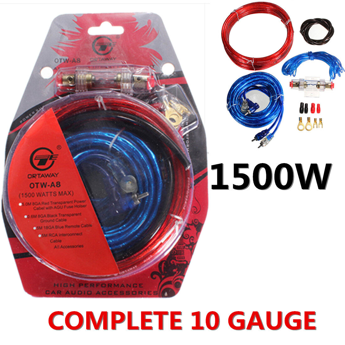 Car Subwoofer Wiring Kit Manual Guide Diagram 1500w Complete 10 Gauge Amp Amplifier Cable Speaker Sub Lazada Malaysia Audio