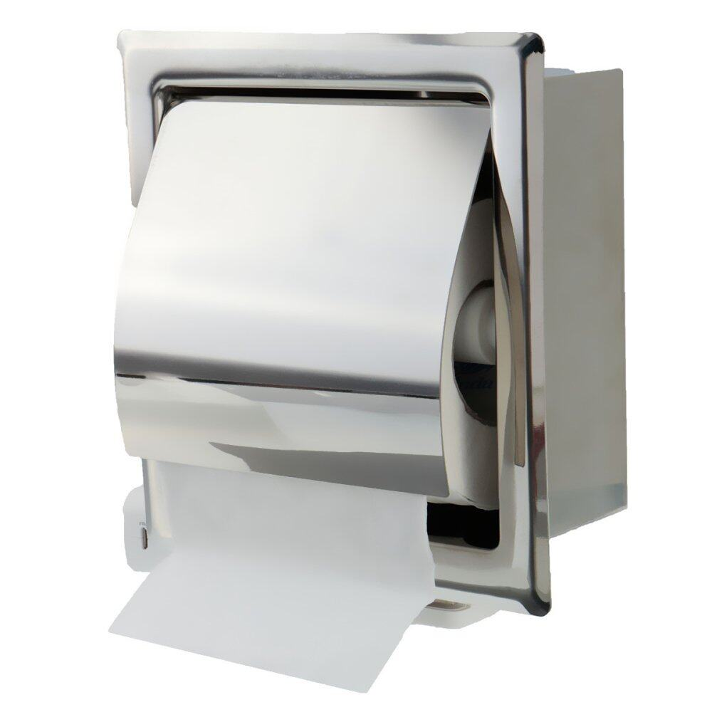In Wall Mounted Stainless Steel Bathroom Toilet Roll