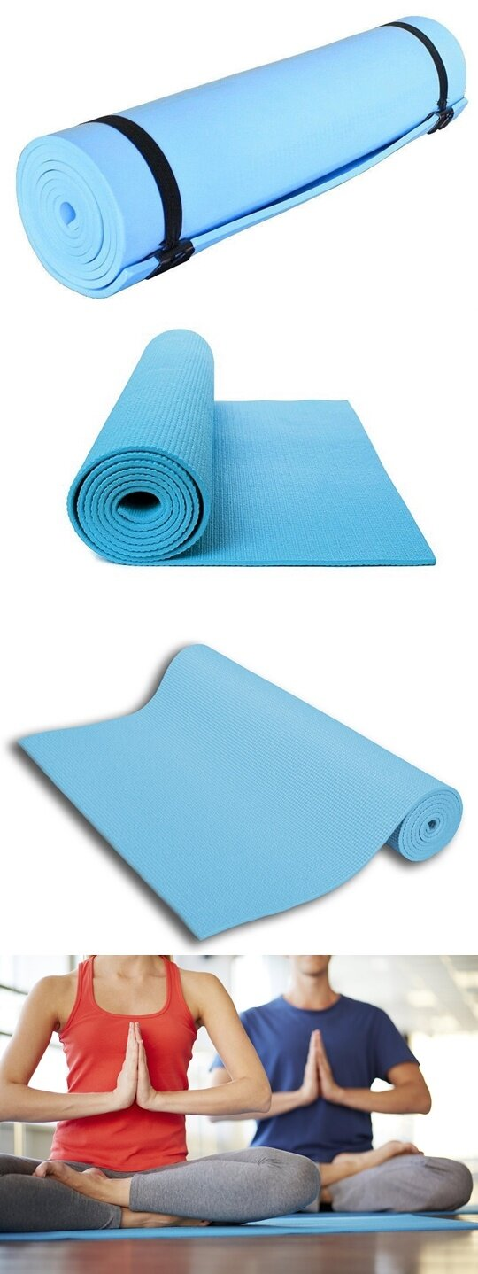 Eco Friendly Eva Non Slip 6mm Yoga Mat Blue Lazada