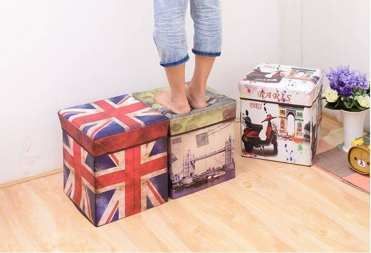 Retro Design Home Decor UK Flag Storage Box Case Chair Lazada
