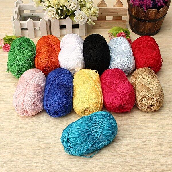 Knitting Rose Yarns : Natural bamboo cotton knitting soft yarn fingering rose