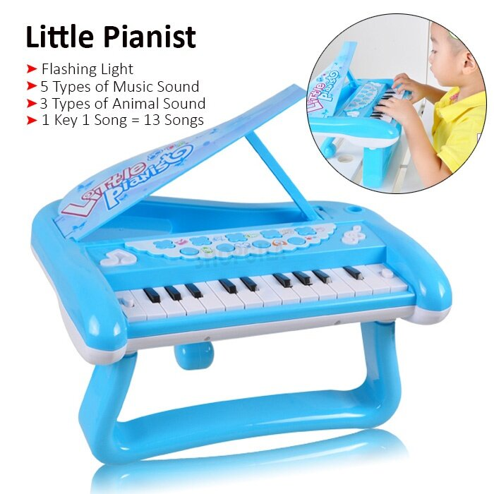 Musical fun keyboard - Personalized baby footprint necklace