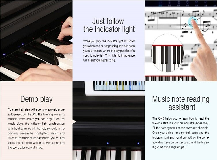 The One Smart Digital Piano White South East Asia Sole Distributor
