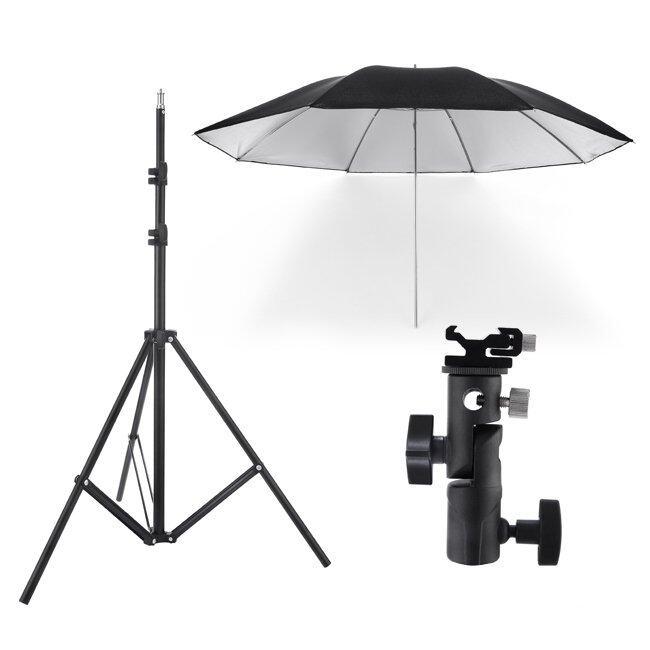 Diffused Light Stand: Meking Light Stand & Flash Bracket Mount & Umbrella