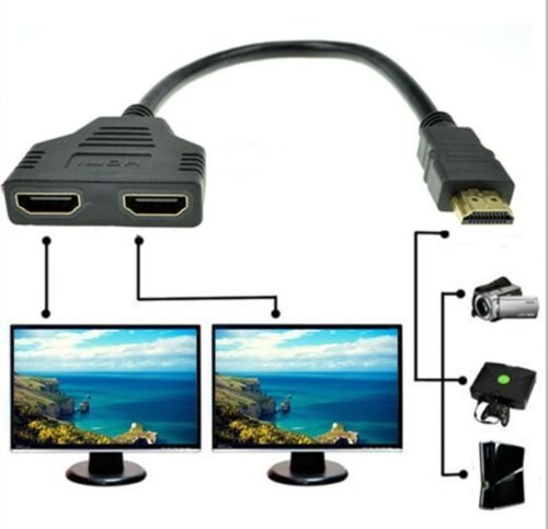 1080P-HDMI-1-Male-To-Dual-HDMI-2-Female-Y-Splitter-Cable-Adapter-for-HDTV-LCD-TV