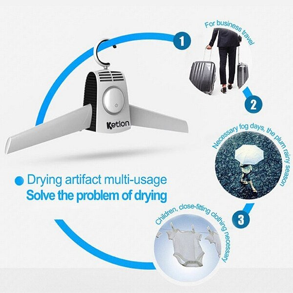 Unlike Other Clothes Dryer, This Item Is Light And Mini. Special Clothes  Rack Design Makes It Convenient To Carry And Also Creative Which Can  Resolve ...