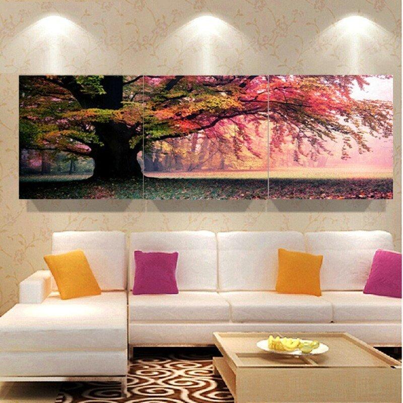 30x30cm 3 Piece Wall Art Pictures Print On Canvas Landscape Modern ... Part 18