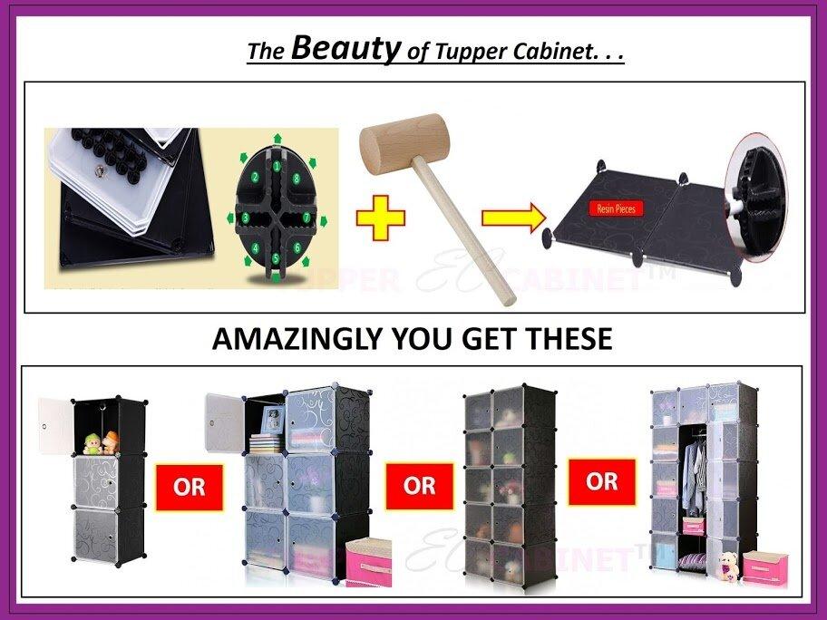 Tupper Cabinet 8 Cubes DIY wardrobe leaf design | Lazada Malaysia