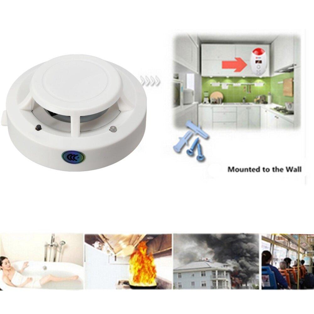 photoelectric wireless smoke detector home security fire alarm sensor system lazada malaysia. Black Bedroom Furniture Sets. Home Design Ideas