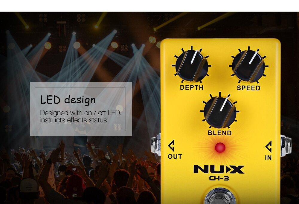 NUX CH - 3 Chorus Guitar Effect Pedal True Bypass Design Aluminum Alloy Housing