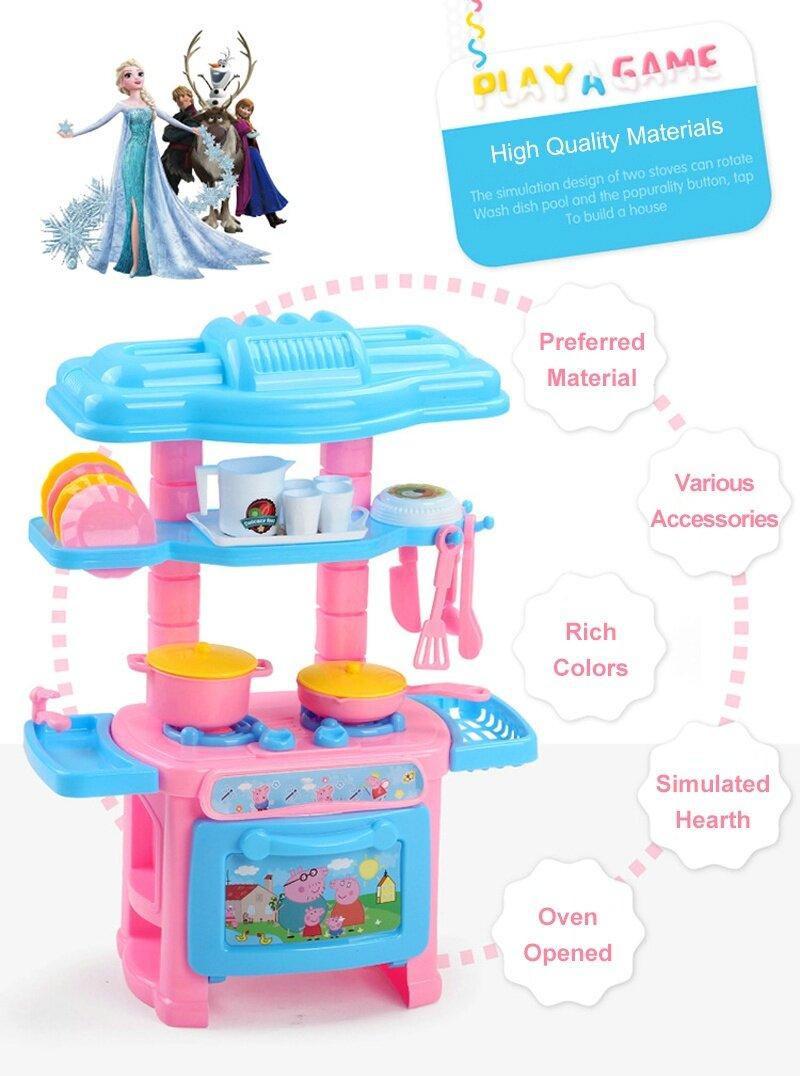 Pikachu Kids Kitchen Toys Pretend Play Cooking Toys Tableware Mini ...