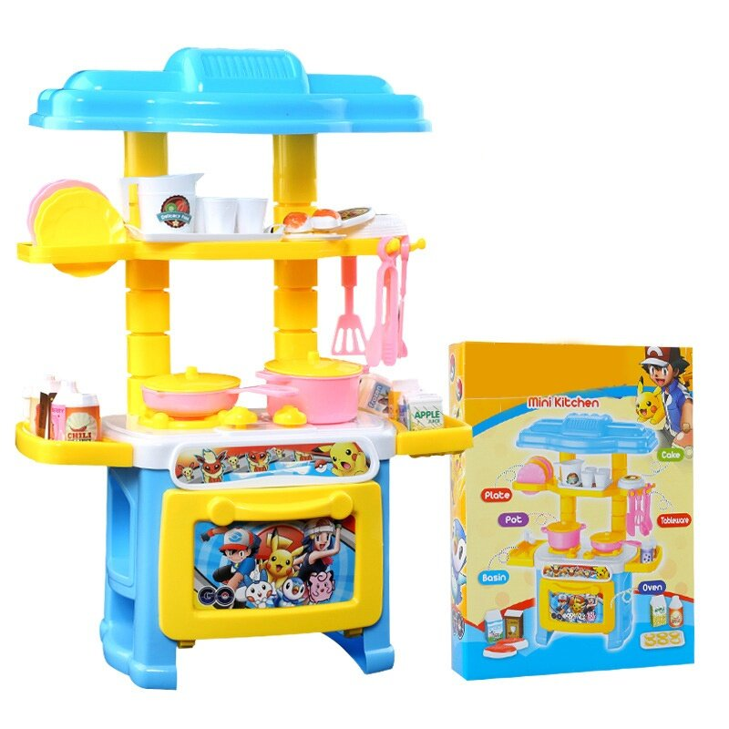 Pikachukids Kitchen Toys Pretend Play Cooking Tableware Sets Baby Simulation Model Hy