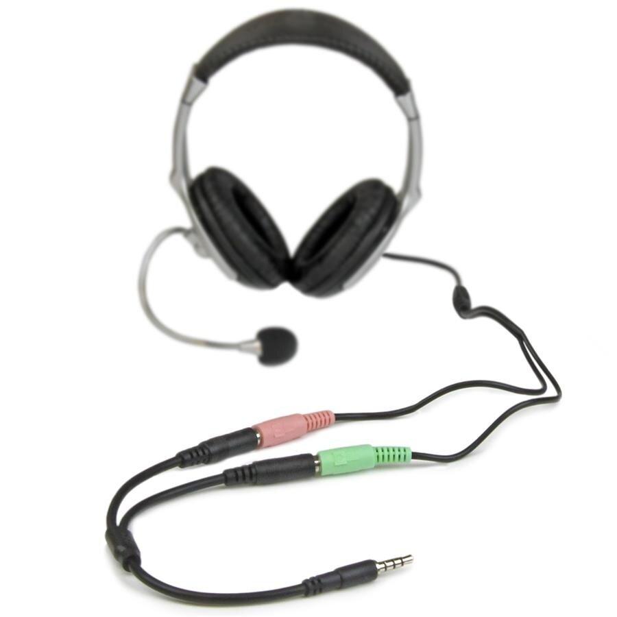 Headset adapter separate splitter headphone/microphone plugs 3.5mm 4