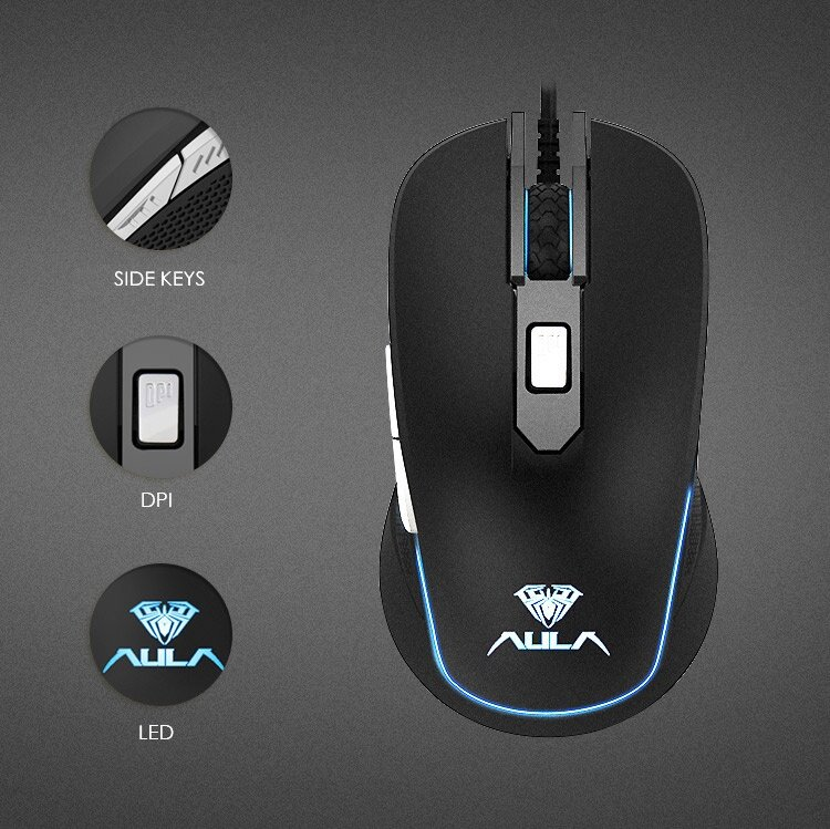 AULA SI-9018 6d usb wired optical mouse