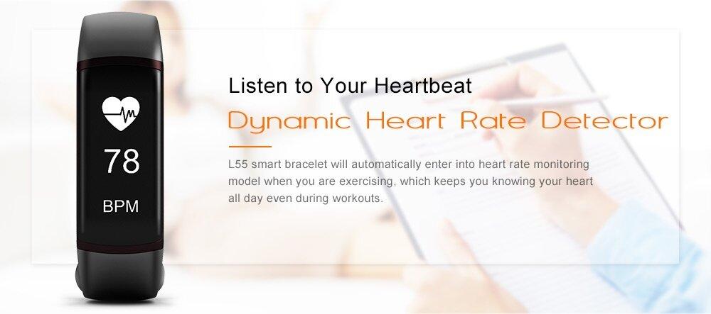 L55 Blood Pressure Heart Rate Monitor Healthy Smart Bracelet
