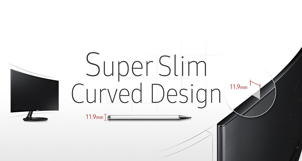 Incredibly slim profile and stylish curved design