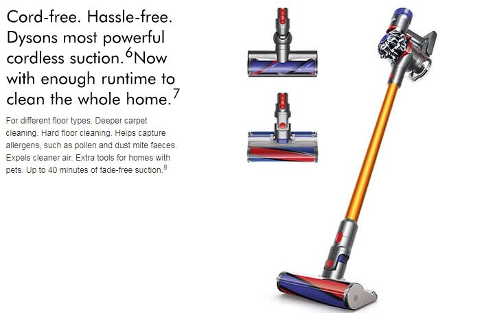 dyson vacuum cleaner v8 absolute plus cordless handheld direct drive cleaner head 11street. Black Bedroom Furniture Sets. Home Design Ideas