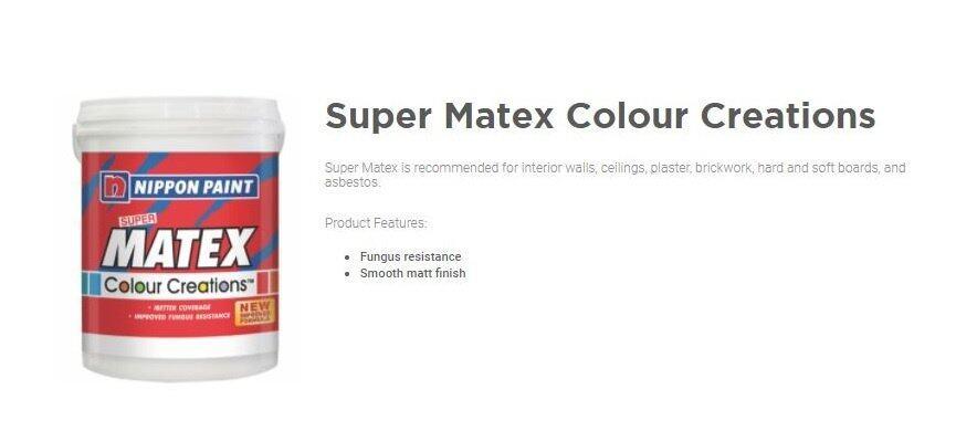 Buy Nippon Paint Super Matex Color Creation - SPRIZZLE OW 1060 P ...