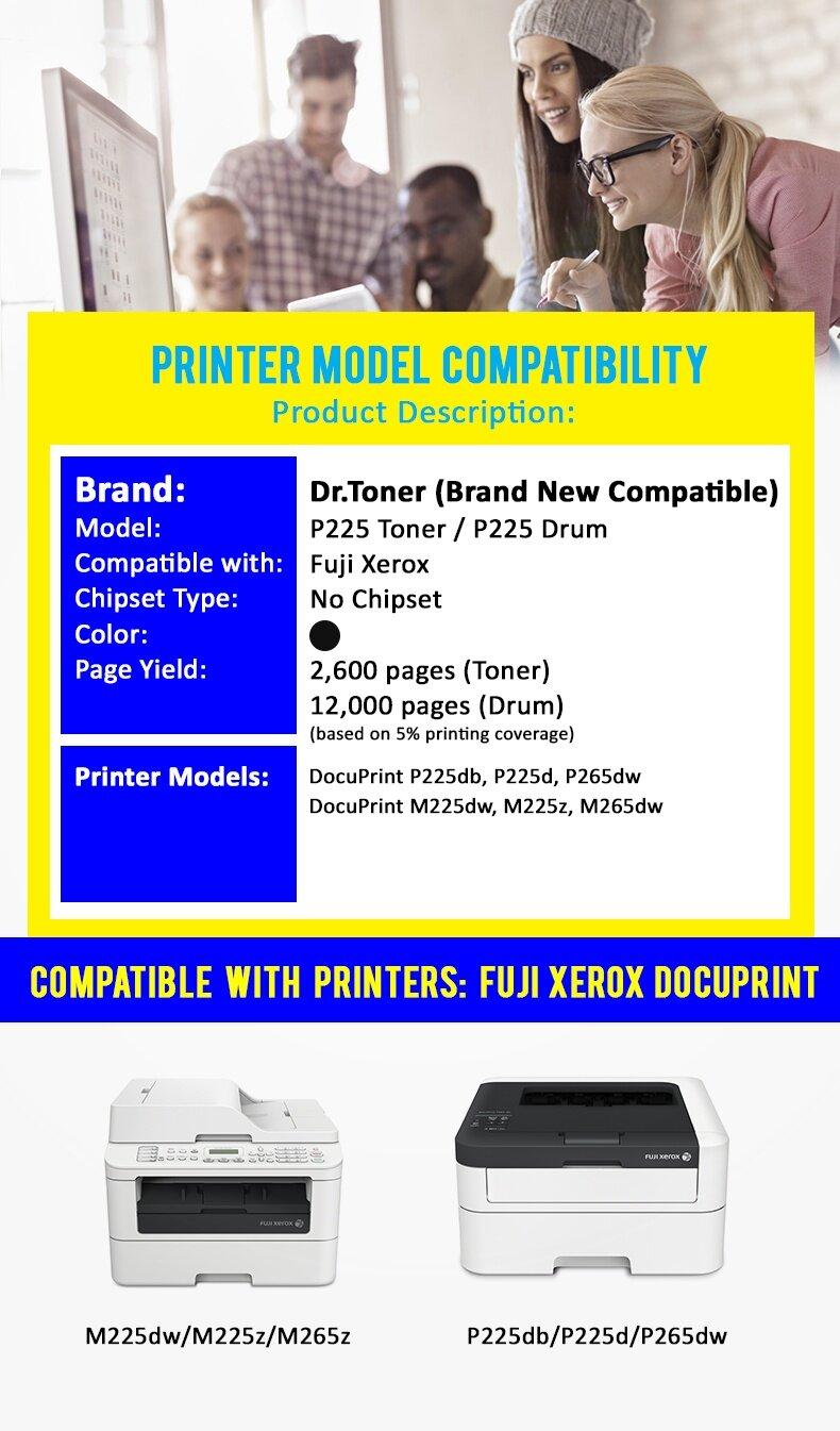 Compatible Toner DrToner Fuji Xerox - P225D - CT202330 (Mono/Black) -  DocuPrint P225db / P225d / P265dw / DocuPrint M225dw / M225z / M265dw - Low  Cost