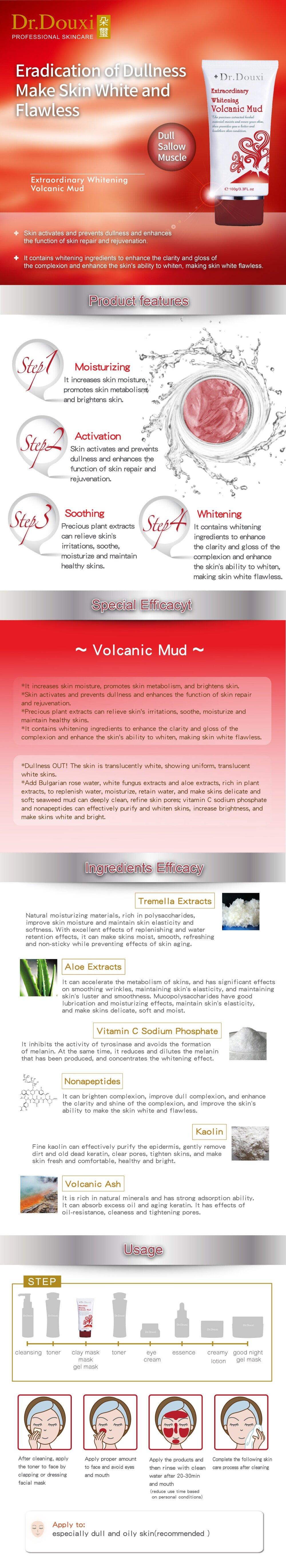 Extraordinary Whitening Volcanic Mud