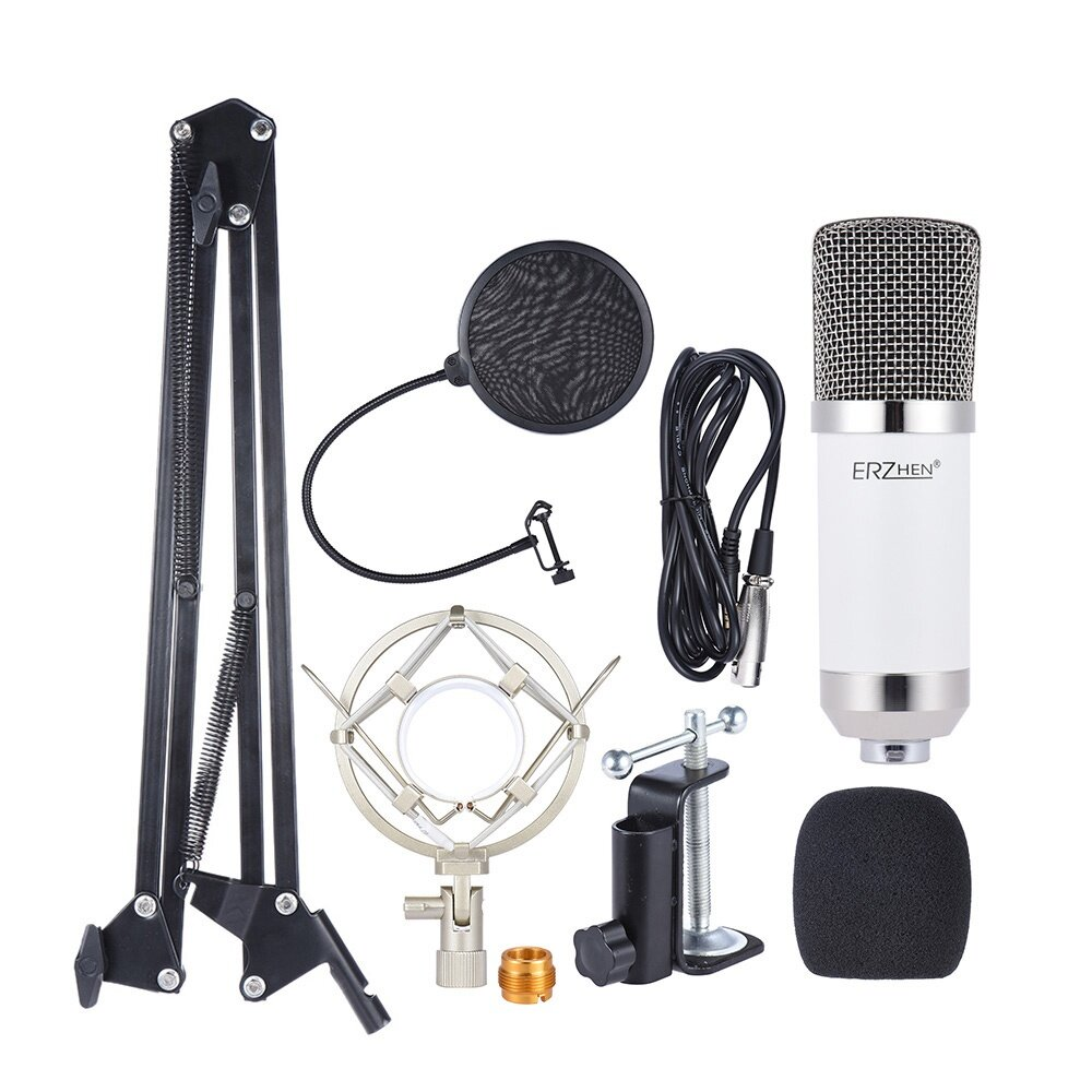 Professional Broadcasting Studio Recording Condenser Microphone Mic Stand Holder For Kit Network Singing Etc The Adopts Accurate Electronic Circuit Control High Output And Low
