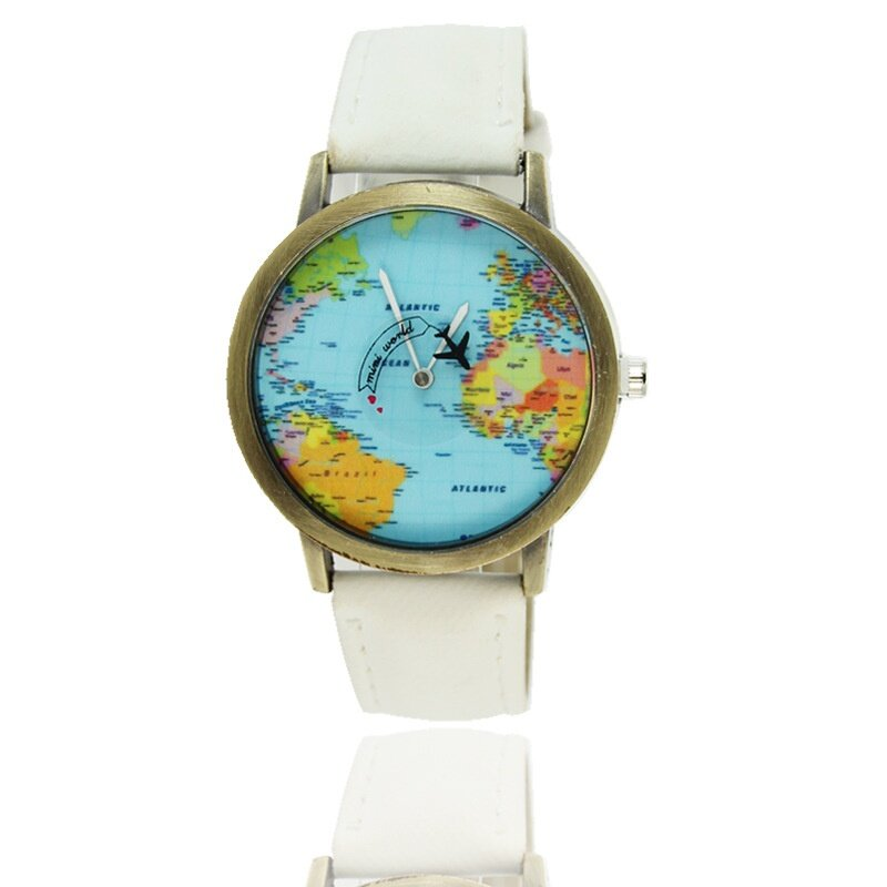 Oscar store world map watch wristwatch quartz watch canvas fabric features100 brand new and high quality it provide precise and accurate time keepingperfect for all kind of business or casual activities gumiabroncs Images