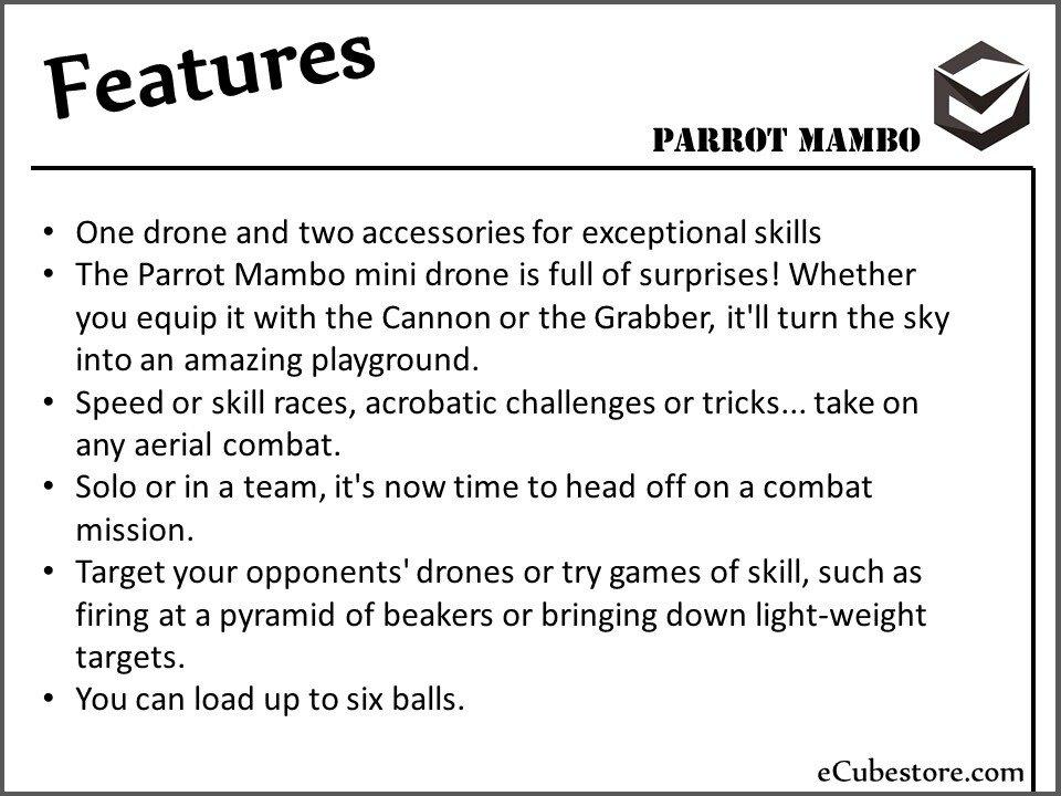 Parrot Mambo Mini Drones Malaysia Drone Price