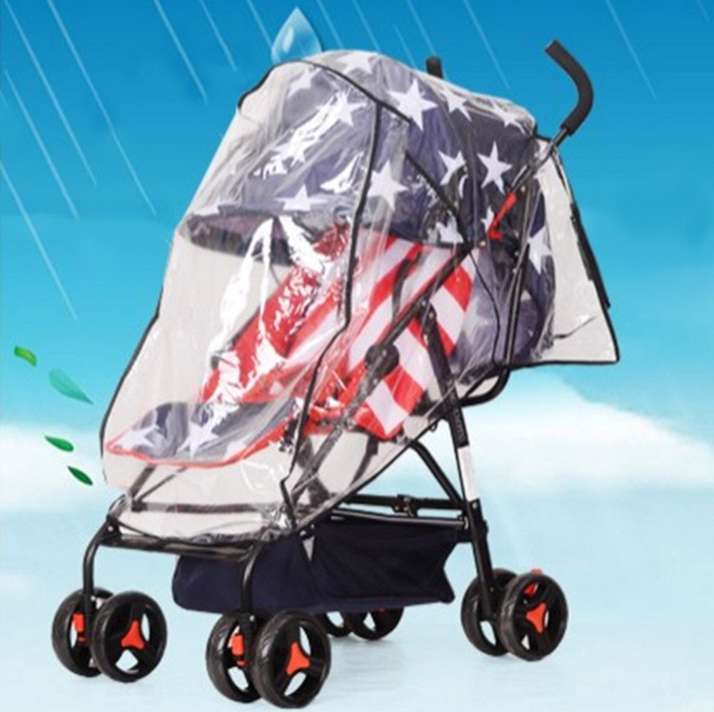Baby Stroller Rain-proof Wind-proof Cover for Outdoor Travel