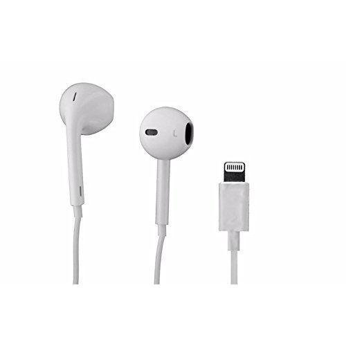 7b1440e4fe5 Apple iPhone 7, iPhone 7 Plus, iPhone 8, 8Plus Earpod / Earbud / Earphones  / Headphones with 3.5MM AUX to Lightning Connector - White - (Bulk  Packaging)
