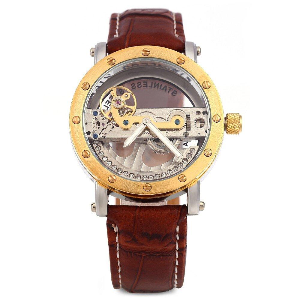 Shenhua 9541 Hollow Automatic Mechanical Watch Men Wristwatch
