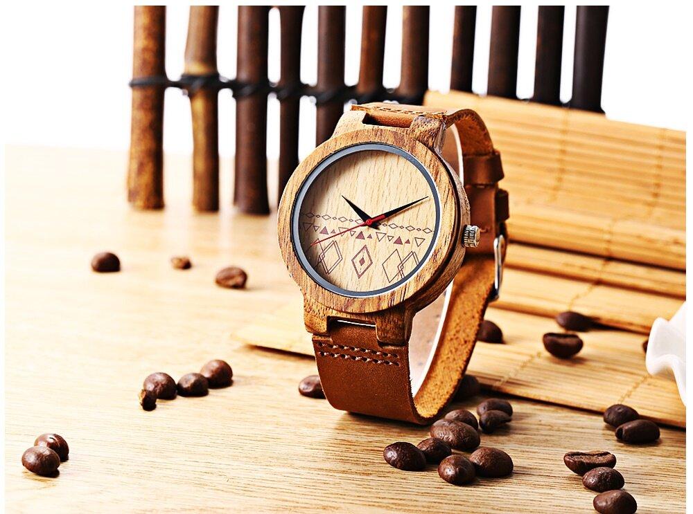BOBO BIRD C19 Unisex Quartz Watch Wooden Case Japan Movt Genuine Leather Band Wristwatch