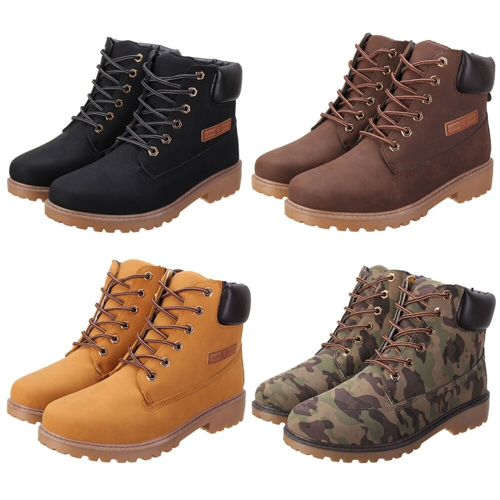 24ead0fb76f Fashion Work Boots Men's Winter Leather Boot Outdoor Waterproof ...