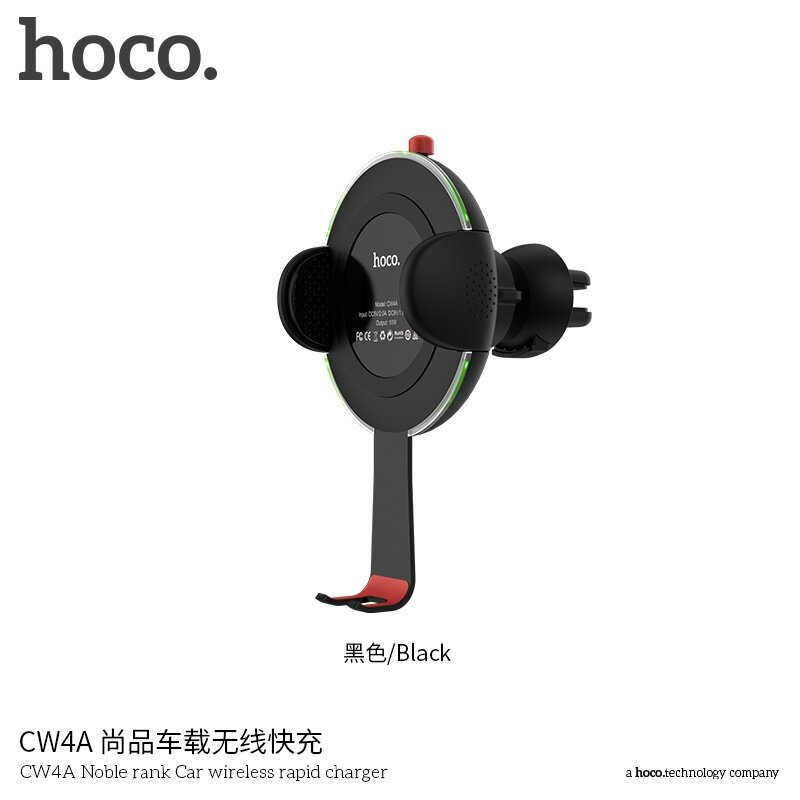 Hoco CW4A Car Air Outlet Holder and Wireless Rapid Charger for Iphone