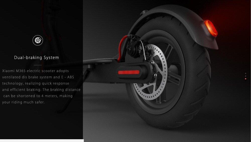 Original Xiaomi M365 Folding Electric Scooter Ultralight Skateboard with E - ABS Kinetic Energy Recovery System Cruise Control Function Intelligent BMS