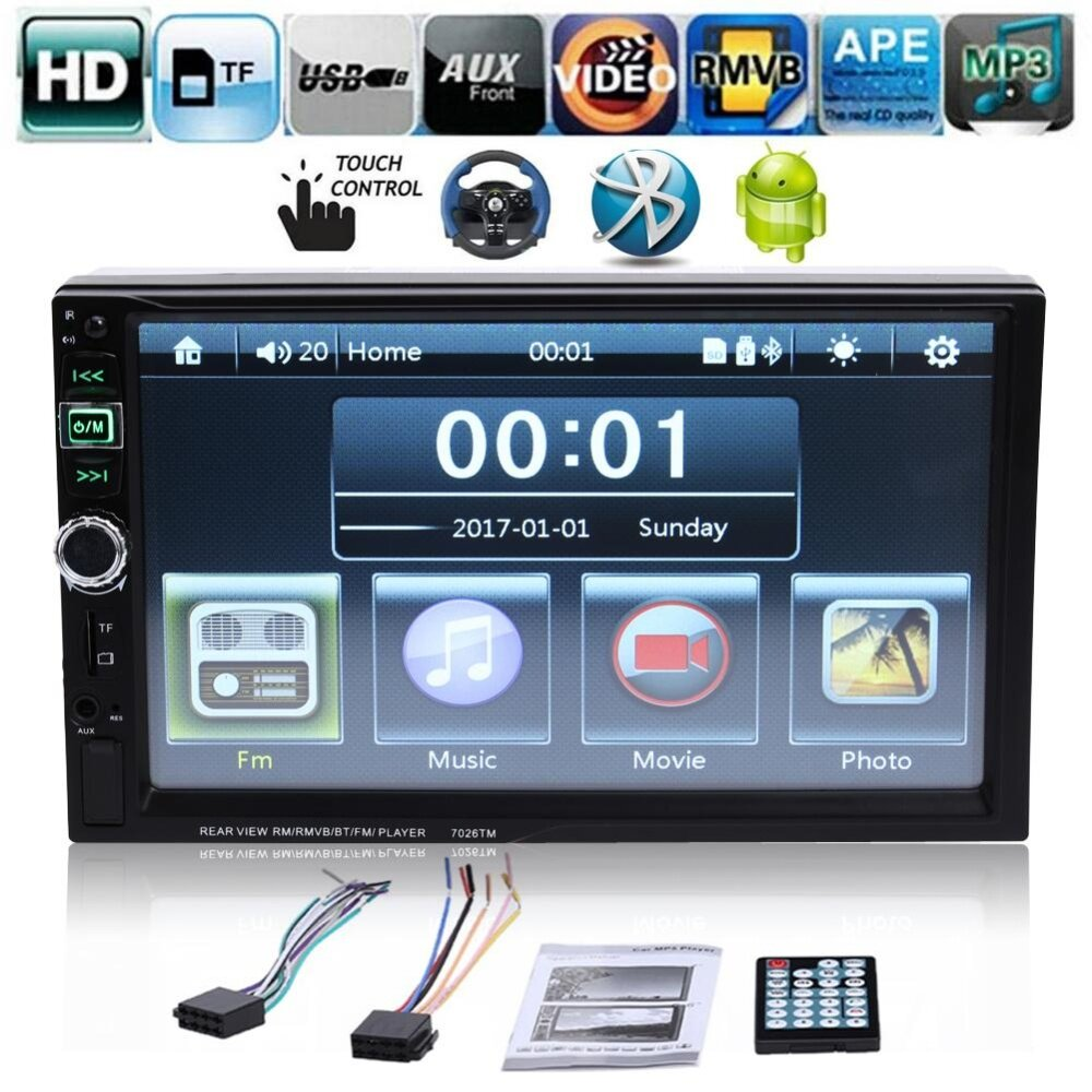 12v car audio auto stereo fm receiver mp3 remote control. Black Bedroom Furniture Sets. Home Design Ideas