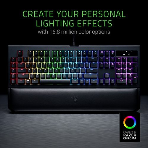 Computer Accessories Razer Razer BlackWidow Chroma V2 - RGB Mechanical  Gaming Keyboard - Ergonomic Wrist Rest - Tactile & Clicky Green Switches -  intl