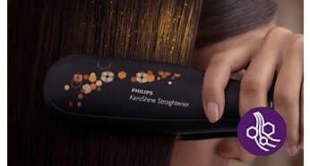 Keratin ceramic plates for smooth gliding and shiny hair