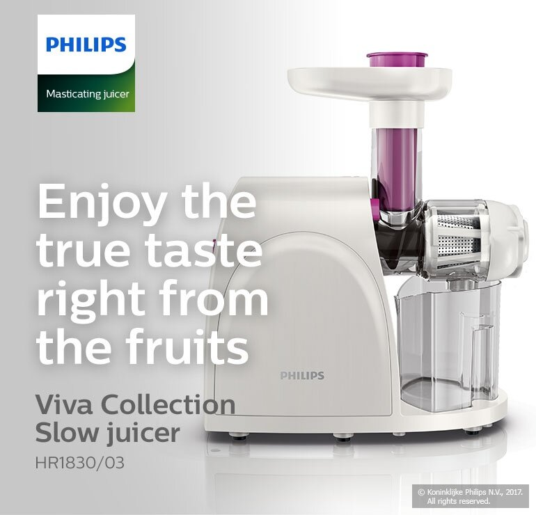 Philips viva Collection Slow Juicer (150w, 2 Direction Button) HR1830/03 ( HR1830/03 ) Lazada ...