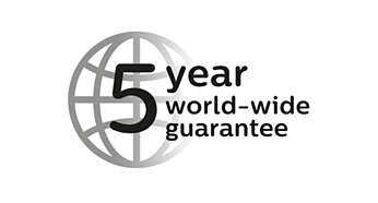2yr guarantee plus 3yrs when you register the product online