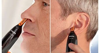 Easily reach hair inside the ear or nose