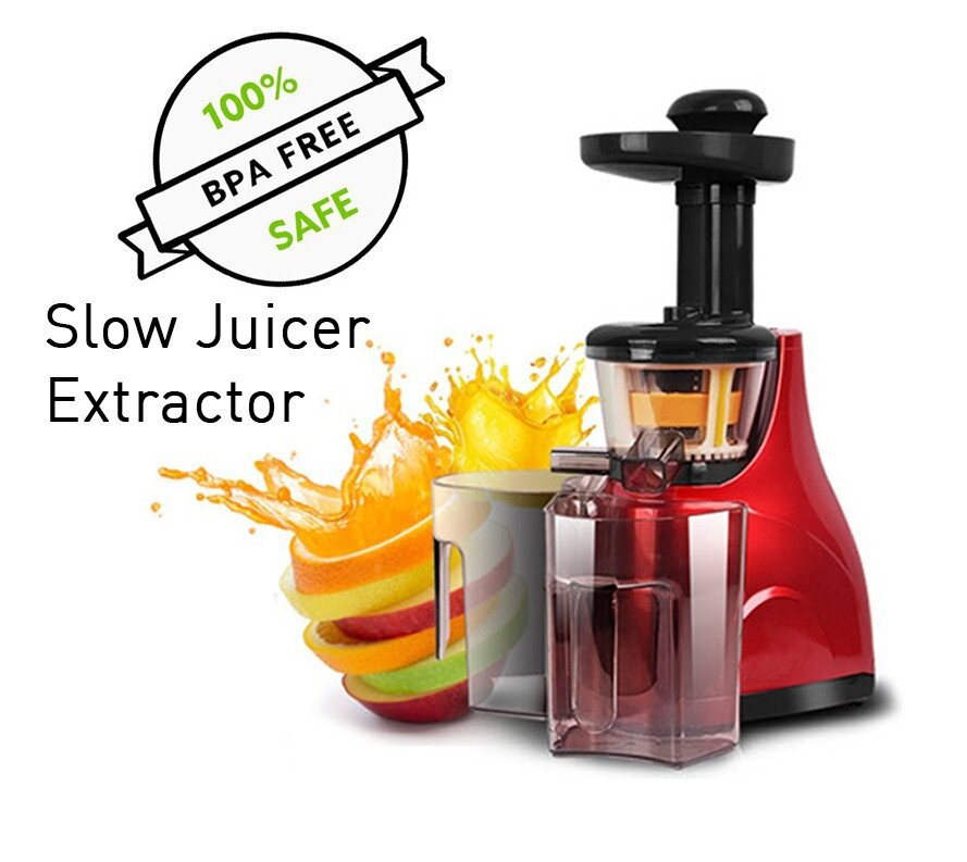 Slow Juicer Test 2018 : Meyou Slow Juicer Extractor Red (end 11/19/2018 8:15 AM)
